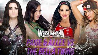 wwe wrestlemania 31 paige aj lee vs the bella twins wwe 2k15