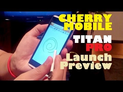 "Cherry Mobile Titan Pro Launch Preview - Quad-Core 5.0"" HD Phone With Gesture Pen For PHP 10,999"