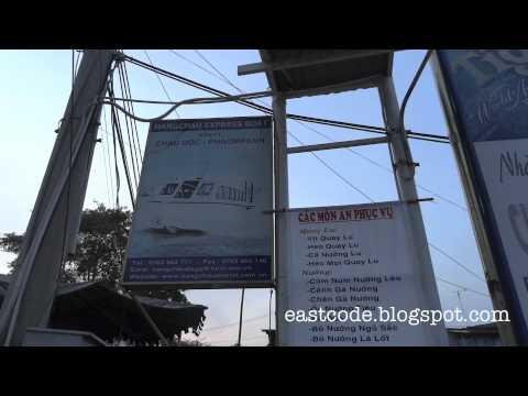 Hang Chau express boat pier Chau Doc to Phnompenh