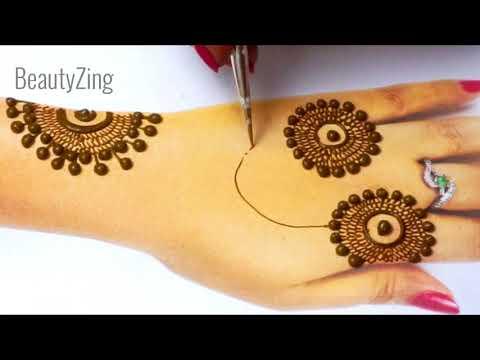 सिर्फ 5 मिनट में इतनी सुंदर मेहँदी लगायें - New Stylish Jewellery Mehndi - Easy Teej Special Mehndi
