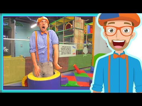 Thumbnail: Blippi Playing at a Play Place | Learning about Colors and Muscles for Kids