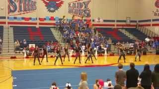 Graham HS Bella Blues Drill Team Pep-rally 11/6/15
