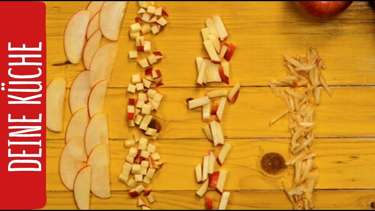4 Arten einen Apfel zu schneiden | REWE Deine Küche - YouTube