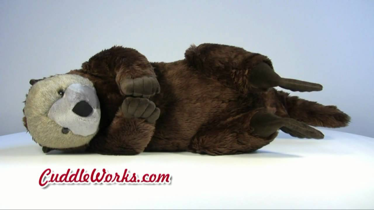 Big Stuffed Animals Sea Otter At Cuddleworks Com Youtube