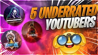 THE MOST AWAITED TOP 5 UNDER-RATED YOUTUBERS.🇳🇵🇮🇳🇩🇲🇧🇷🇨🇷🇧🇩