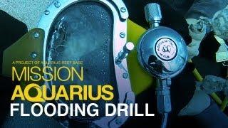 Flooding Drill - Aquanaut Helmet Training at Aquarius Reef Base