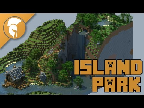 Island Park with Hiking Trails and Fishing Shack with Downlaod | Minecraft Upgrade 3