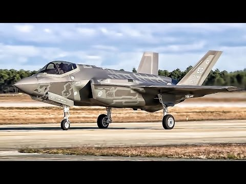 F-35A Lightning II Fighter Jets Takeoff At Tyndall AFB