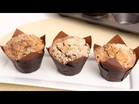 Chocolate Crumb Cake Muffins Recipe - Laura Vitale - Laura in the Kitchen Episode 739