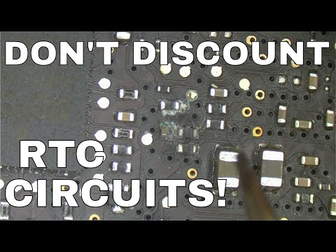 Finding broken vias and how RTC circuit failure presents itself