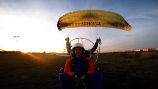 видео полет на параплане