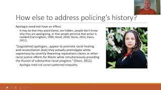 Apologia for the racist history of the policing Mark Benton