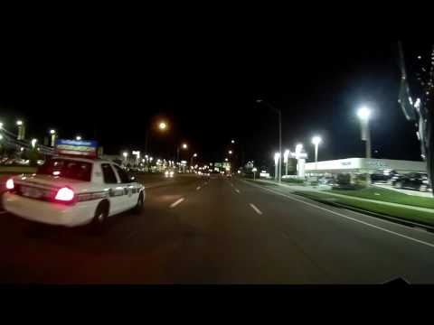 Dale Mabry Motorcycle Ride By Night in Tampa Florida