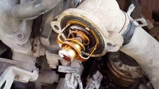 Замена термостата Daewoo Matiz своими руками - Replacing thermostat Daewoo Matiz own hands