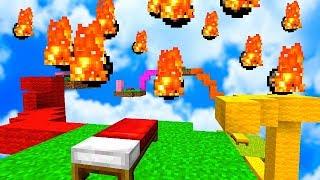 УСТРОИЛ МЕТЕОРИТНЫЙ ДОЖДЬ НА БЕД ВАРСЕ - Minecraft Bed Wars