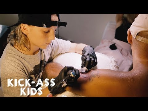 The 12-Year-Old Tattoo Artist | KICK-ASS KIDS