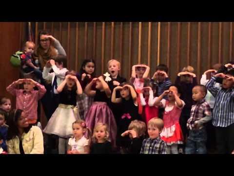 "Children of Harmony Montessori School's River Room sing ""In"