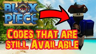 [CODES!] Codes That Is Still Available In Blox Piece 2019 (Roblox)