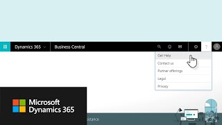 Get Assistance with Microsoft Dynamics 365 Business Central