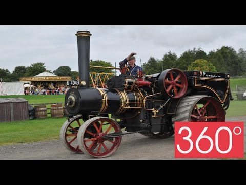360 degree - Beamish museum in Durham - Steam Tractor #Beamish360
