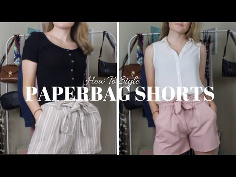 HOW TO STYLE PAPERBAG SHORTS | LOOKBOOK