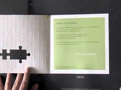 Hochzeitskarten pr1274 Hochzeitseinladung mit Puzzleteilen