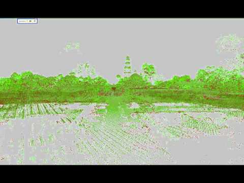 LiDAR point cloud geovisualization: Balboa Park, San Diego, CA