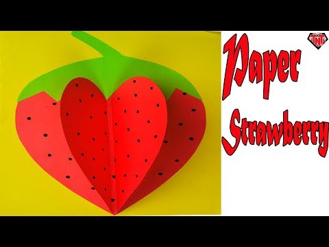 How To Make A Paper Strawberry Easy || DIY Paper Origami Fruits || DIY Paper 3D Fruits