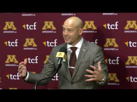 Gopher Blog - PRESS CONFERENCE: P.J. Fleck Previews Game vs Wisconsin | #KFANGophers