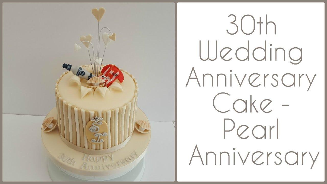 30th Wedding Anniversary Cake: Pearl Anniversary