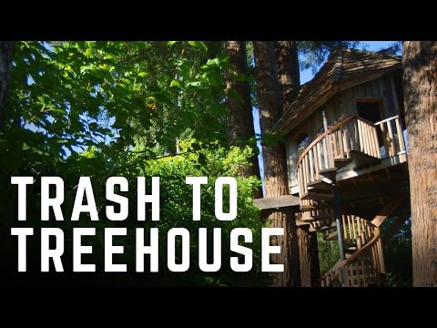 Turning Junk into Stunning Treehouses