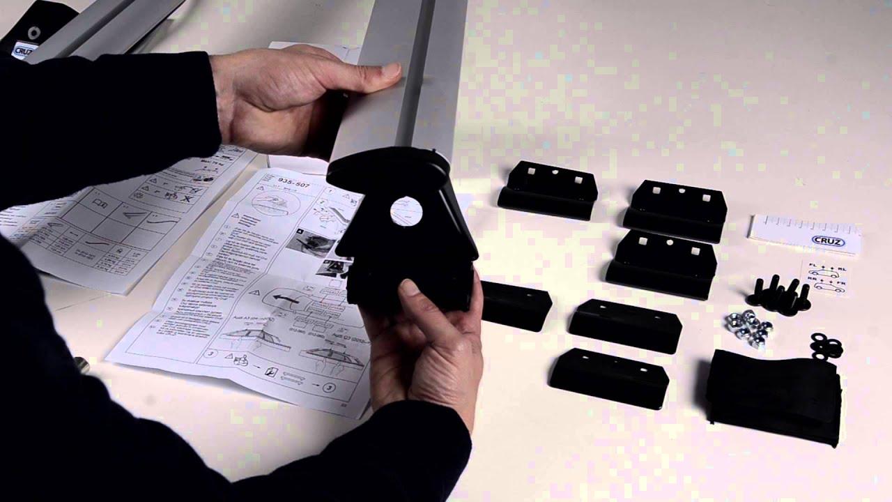 Cruz Optiplus Rail Kit 935 507 Roof Bars Youtube