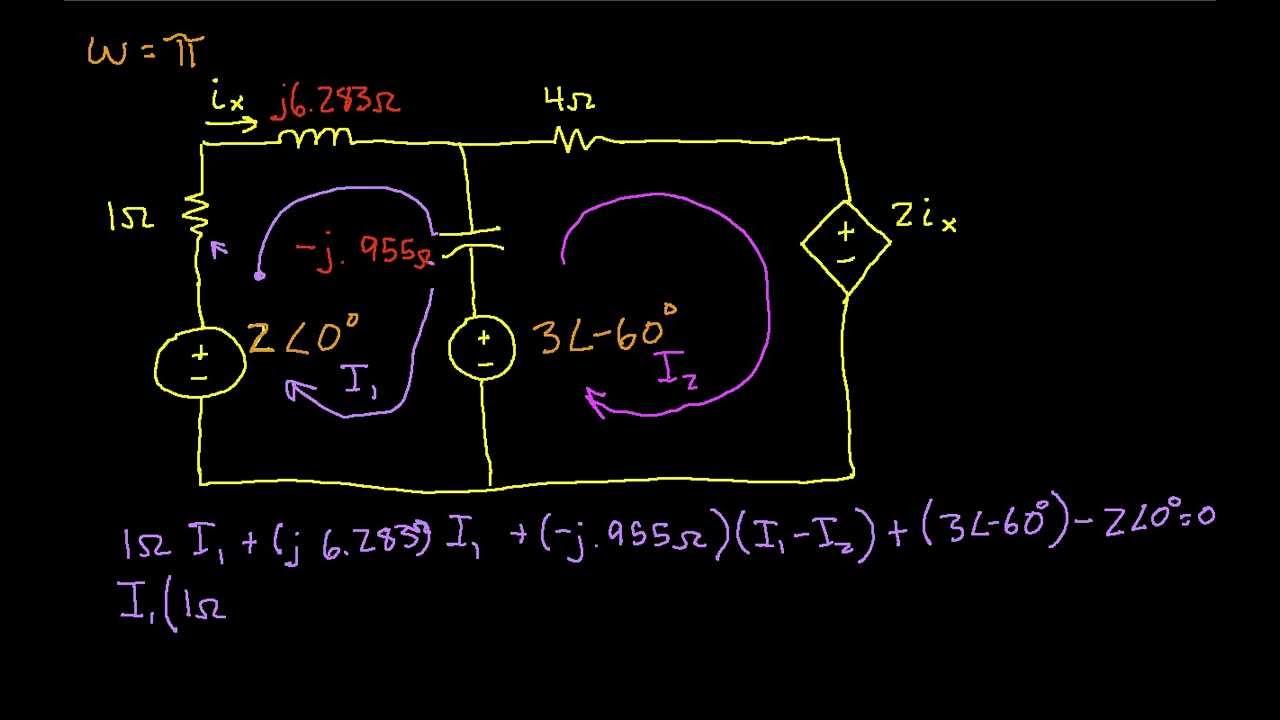 AC Example-Mesh Analysis