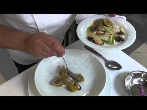 3 Michelin star Gilles Goujon prepares ravioli