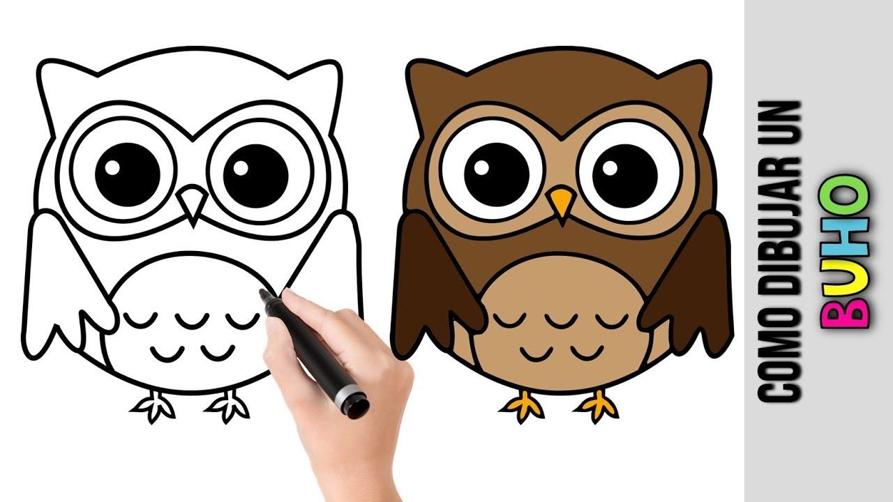 Como Dibujar Un Buho ★ Dibujos Fáciles Para Dibujar Paso A Paso YouTube