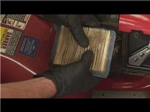 lawn mower repair : how to change a lawn mower air filter -