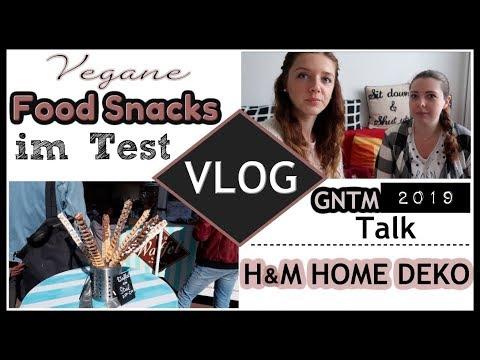 hamburg-vlog-●-vegane-food-süßigkeiten-snacks-im-test-|-gntm-2019-talk-|-h&m-home-deko