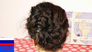 Элегантная прическа для длинных волос на каждый день или на праздник видеоурок