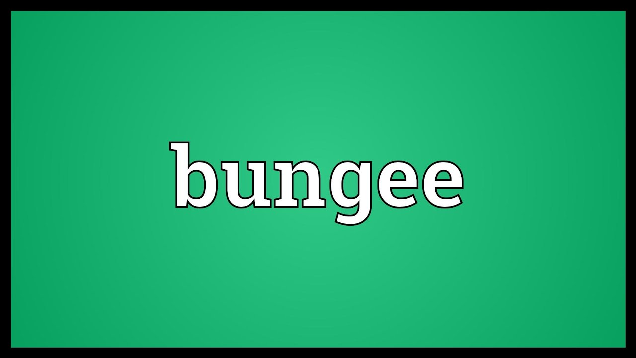 Bungee Meaning Youtube