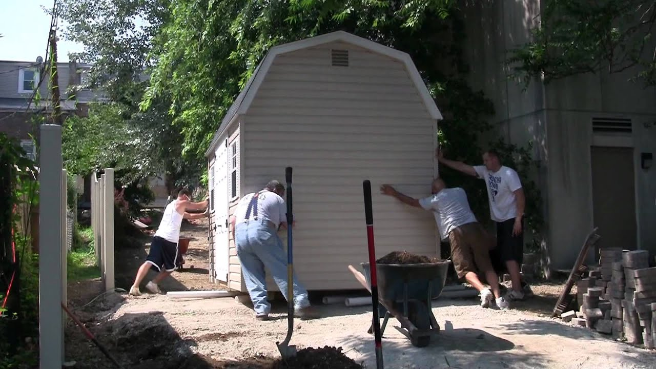 How To Turn And Move A Shed By Hand Youtube