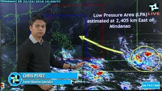 Public Weather Forecast Issued at 4:00 AM March 23, 2018