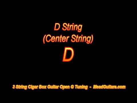 cigar box guitar open g tuning - short & sweet