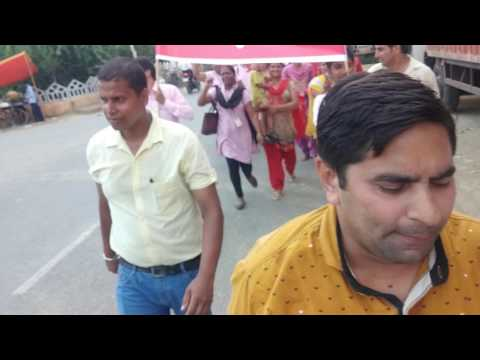 Protest By LG Employees Union For Their Moral Rights