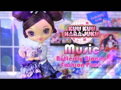Unbox Daily: KUU KUU HARAJUKU Music Doll Review | PLUS Butterfly Bloom Fashion Pack
