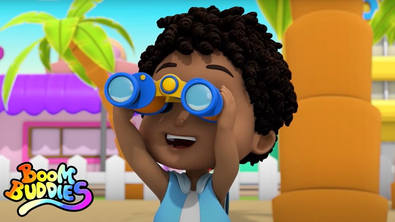 Yo espío canciones para Niños | Videos Educativos | Boom Buddies Español Dibujos Animados