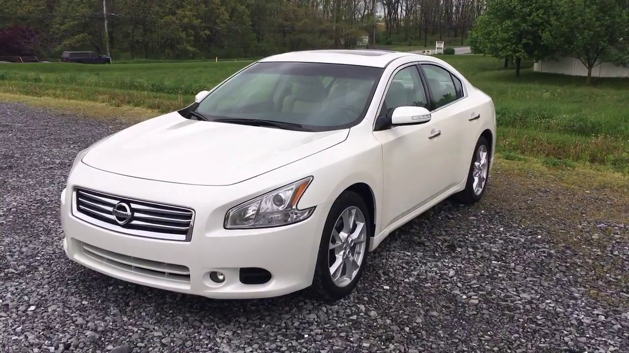 2014 Nissan Maxima Sv W Sunroof Pearl White Youtube