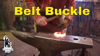 Forge welded belt buckle