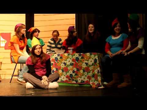 Montauge Regional High School drama class rehearse Snow White and the Seven Dwarfs