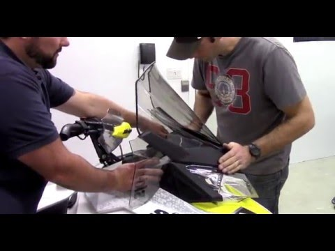 Raw Fuel TV upgrades the windshield on their Pre-Prod 2016 Ski-Doo