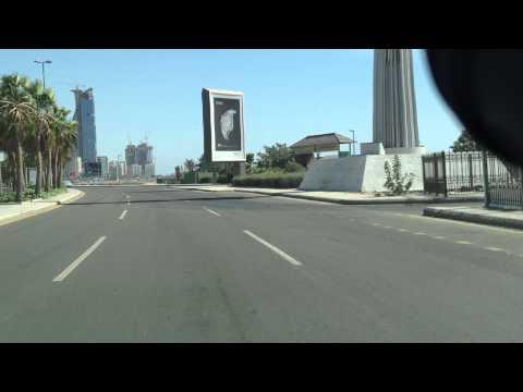 Driving on Jeddah Corniche, Saudi Arabia
